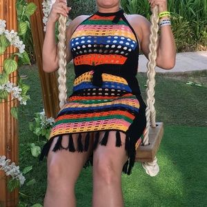 Swimsuit Dress crochet hand made. Worn once